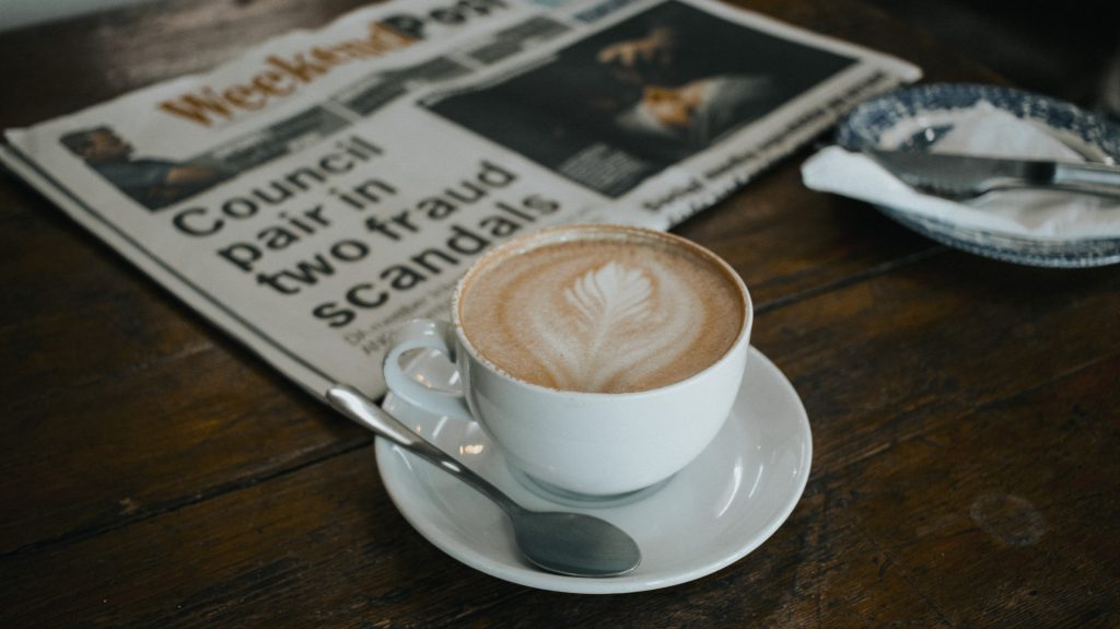 Coffee and headlines